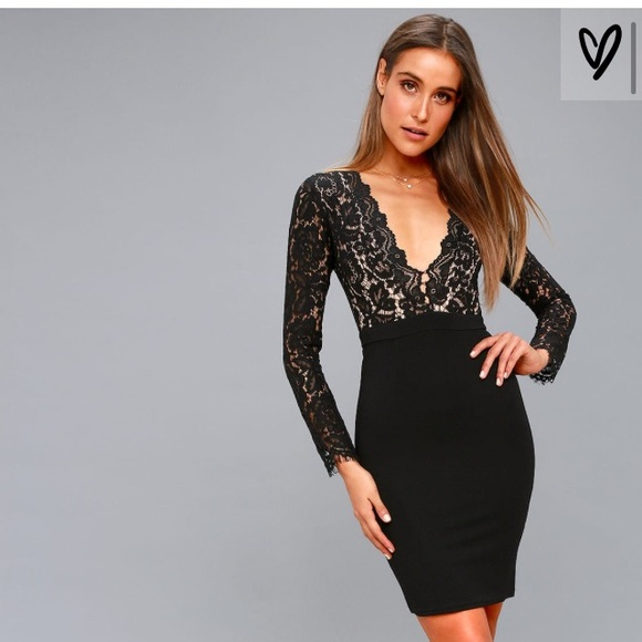 d3c1fc066e7f SWOON-ER OR LATER BLACK LONG SLEEVE LACE DRESS